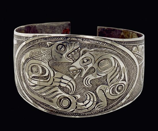vintage patterns sterling armband haida