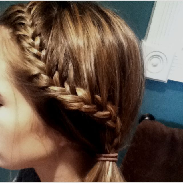 Tight French Braid Into Side Ponytail Side Braid Ponytail Gorgeous Hair Hair Styles