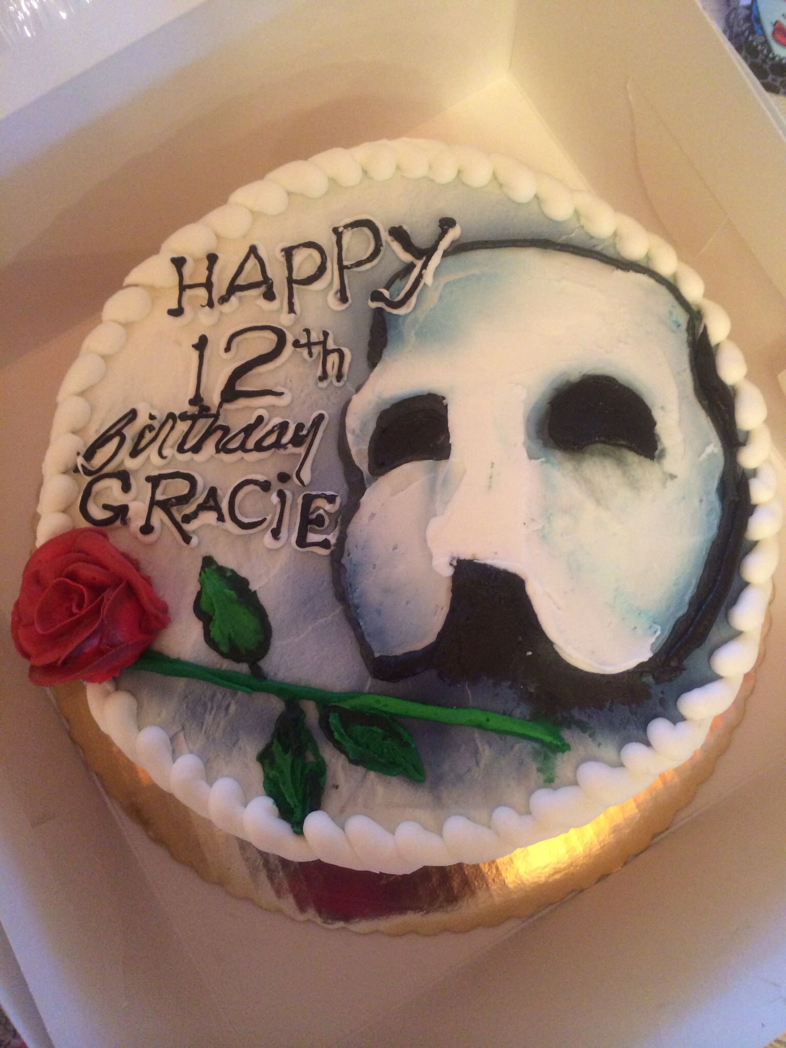 Awesome Cake For The Phantom Of Opera Birthday Party Made By Bankery In Skowhegan