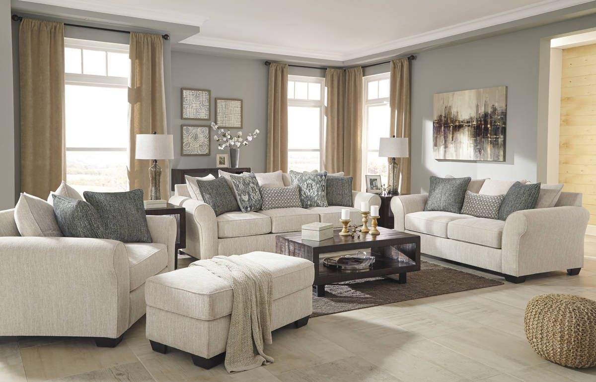 Silsbee Contemporary Sepia Fabric Solid Wood Living Room Set ...