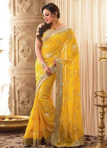 fa1363963763 20 Mesmerizing Yellow Sarees To Make You Look Bright | saree&Indian ...