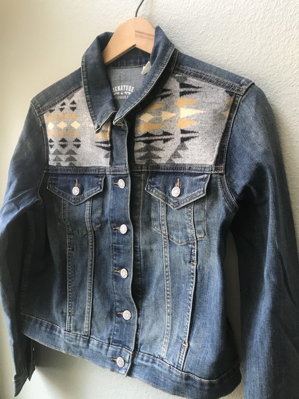 Women S Or Men S Vest Size Large Vintage But New Etsy Denim Women American Jeans Womens Denim Jean Jacket [ 3000 x 2250 Pixel ]