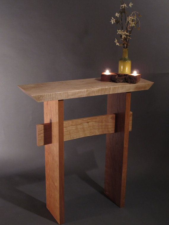 Contemporary Hall Table small console table for front door: mid century modern zen hall