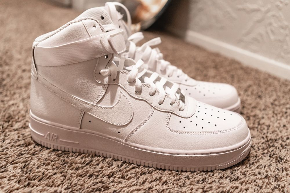 a2f81fdaea4a Nike Men s Air Force 1 High  07 Sneakers - Size 12 US (All White