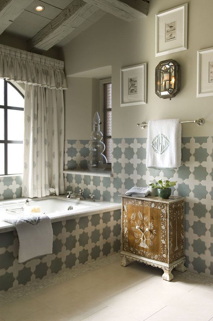 Marokkanische Fliesen Zementfliesen Interirdesign Ideen Wohnung Design  Anders Denken Mosaik Fliesen Kreative Wandgestaltung Badezimmer