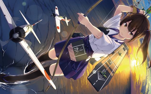 2880x1800 Pix Wallpaper Anime Girls Anime Kantai Collection Kaga Kancolle Anime Wallpaper Anime Warriors Wallpaper