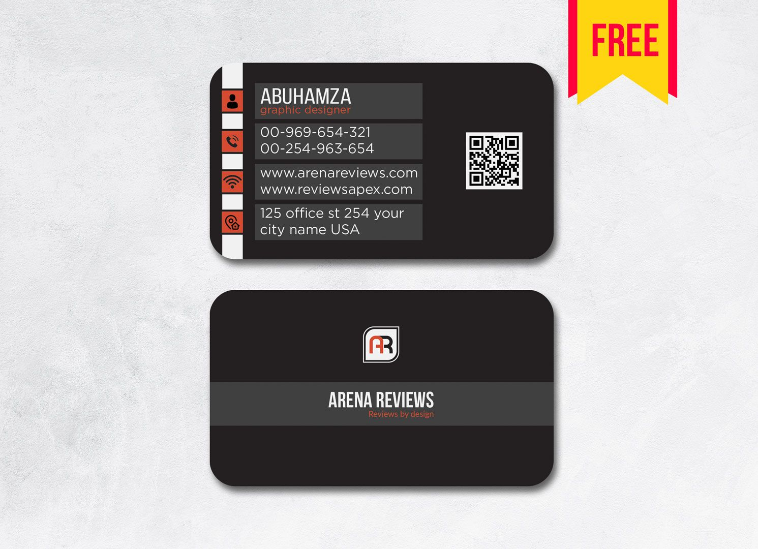 Dark Business Card Template Psd File Free Download Intended For Templat In 2020 Business Card Template Photoshop Visiting Card Templates Free Business Card Templates