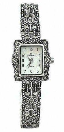 a2449f9bcfa8 Reloj Minister con marcasitas en plata