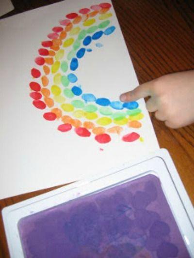 Emma's Diary: Easy Crafts For Kids - Rainbow fingerprints