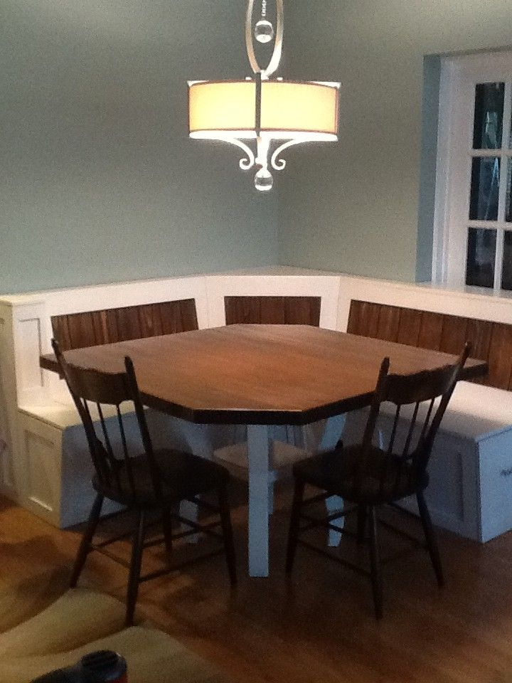 Custom Made Breakfast Nook With Maple Table Breakfast Nook