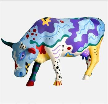 I like this idea, but would expand it to sculpture AND history.  First create the animal in paper mache, then research artists and decorate the animal to depict a famous painting or artist's work.  Cowlvador Dali...Vincent Van Cow...