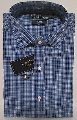 POLO RALPH LAUREN men's DRESS SHIRT Regent Classic Fit Mini Checks XL 17 -32/33