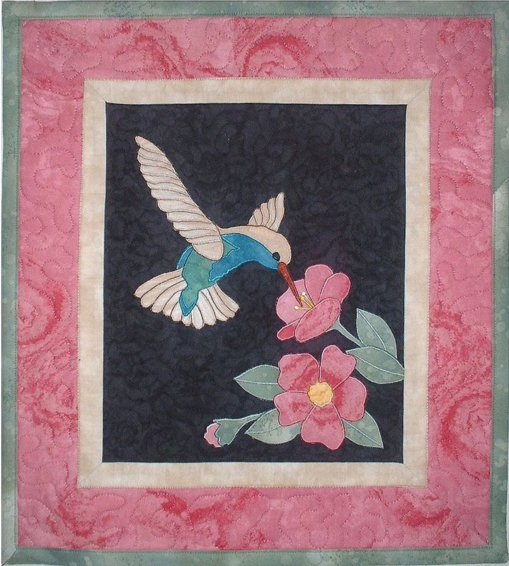 hummingbird quilt | Quilt Craft Distributors - pattern from Joan's ... : hummingbird quilts - Adamdwight.com