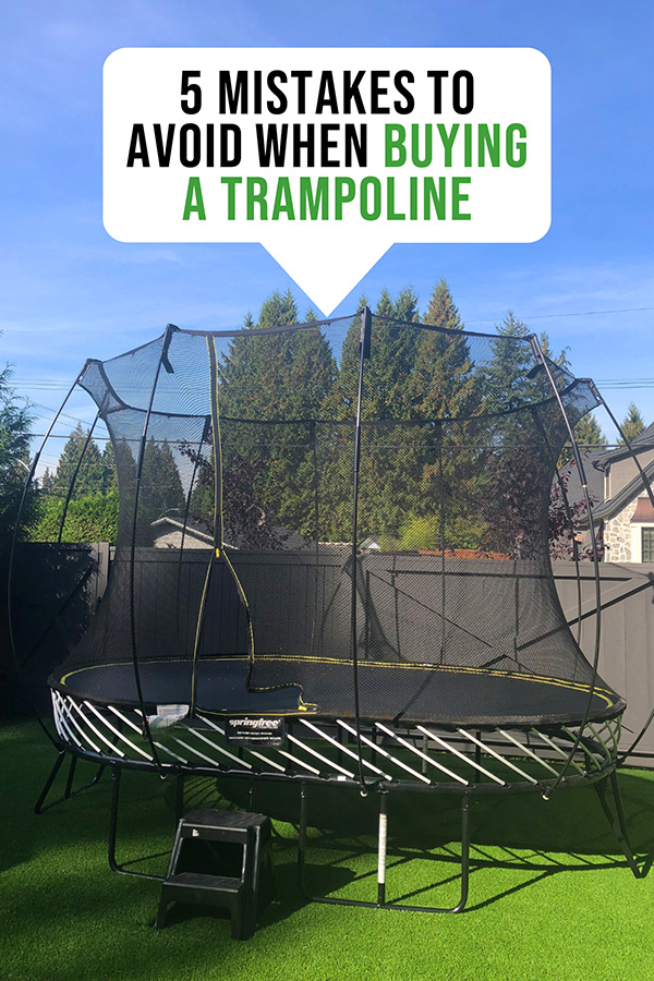 5 Mistakes To Avoid When Buying A Trampoline Trampoline Buying Tips How To Choose A Trampoline Back Best Trampoline Backyard Trampoline Backyard For Kids