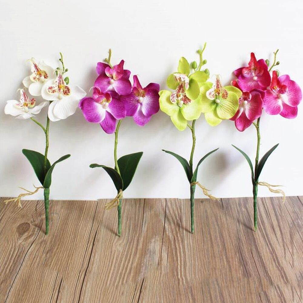 Details About Artificial Fake Silk Flower Phalaenopsis Butterfly Orchid Home Wedding Decor New With Images Fake Flowers Wedding Artifical Flowers Home Wedding Decorations