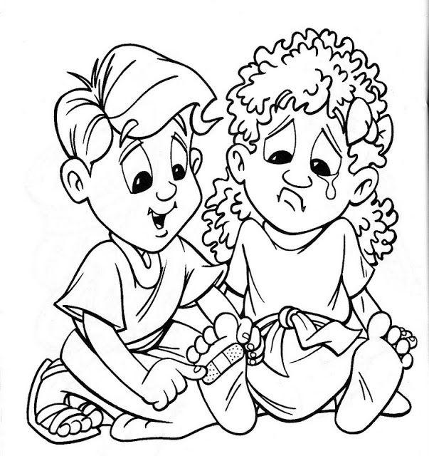 dibujo de ninos ayudando   Dibujo de Ayuda cristiana para colorear ...