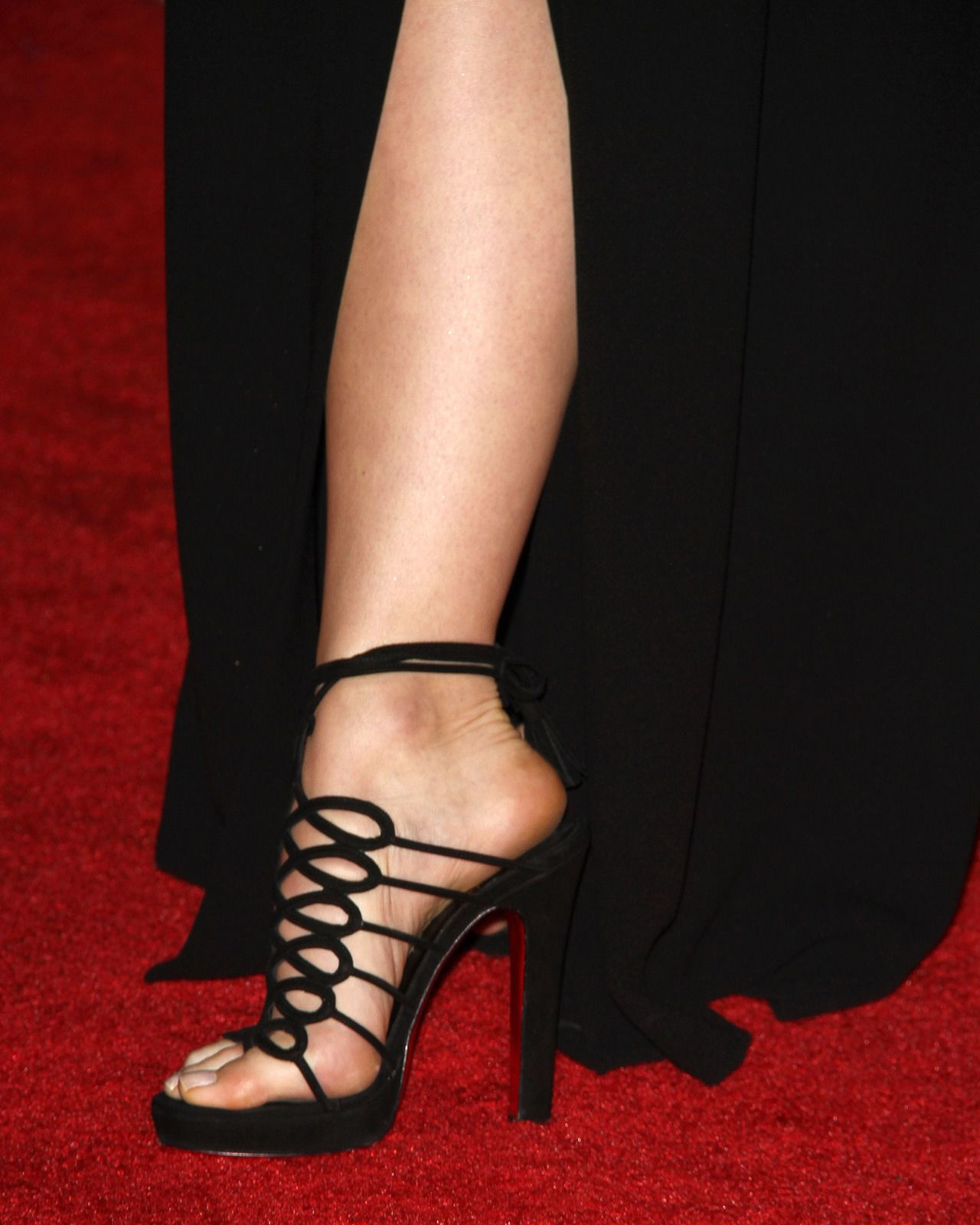 Christian Louboutin Black Leather Sandal