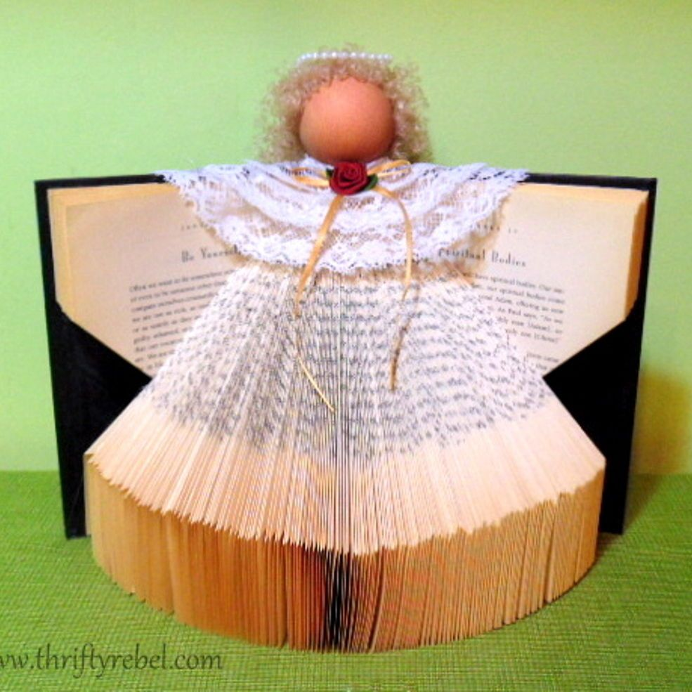 How To Make A Book Angel Craft Club Ideas Christmas Angel Crafts