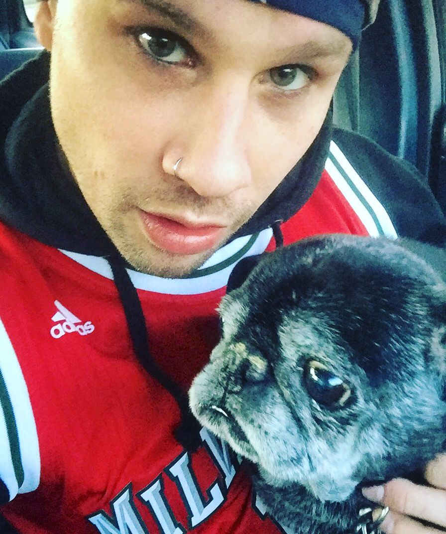 Me and my best friend Kaos   Pug Life