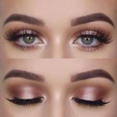 Photo of Rotgold Auge Make up   @make_up_char – Make-up Geheimnisse  Rose gold eye make u…