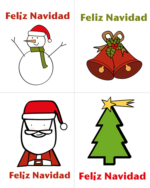 Dibujos de Navidad para imprimir | Pinterest | Tag templates, Label ...
