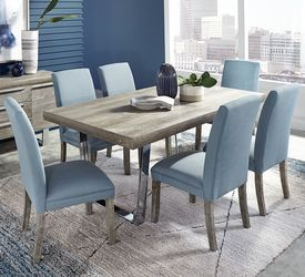 Cindy Crawford Home San Francisco Gray 5 Pc Dining Room With Charcoal Chairs With Images