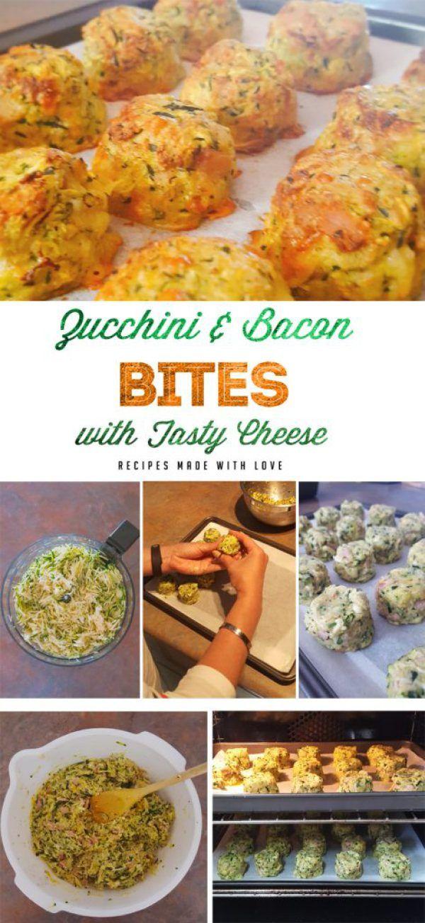 Zucchini and Bacon Bites