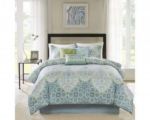 Chicmarket Com Madison Park Sarita 7 Piece Comforter Set King Blue Comforter Sets Bedding Sets Best Bedding Sets