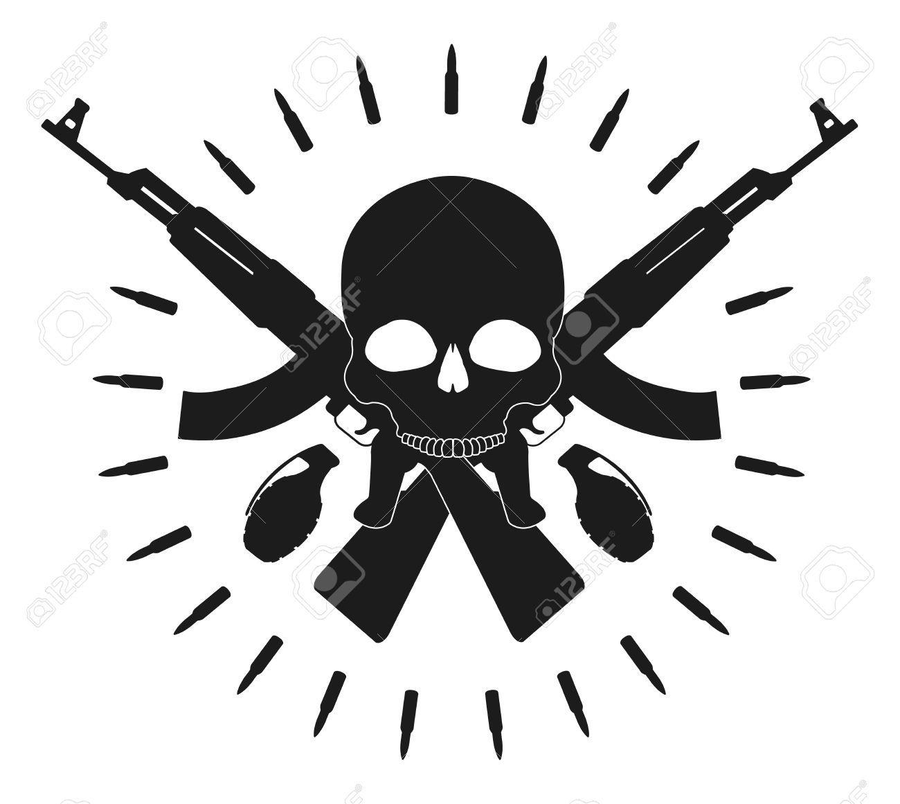 Resultado de imagem para Ak 47 skull art | Skull, Ak-47 e guns ...