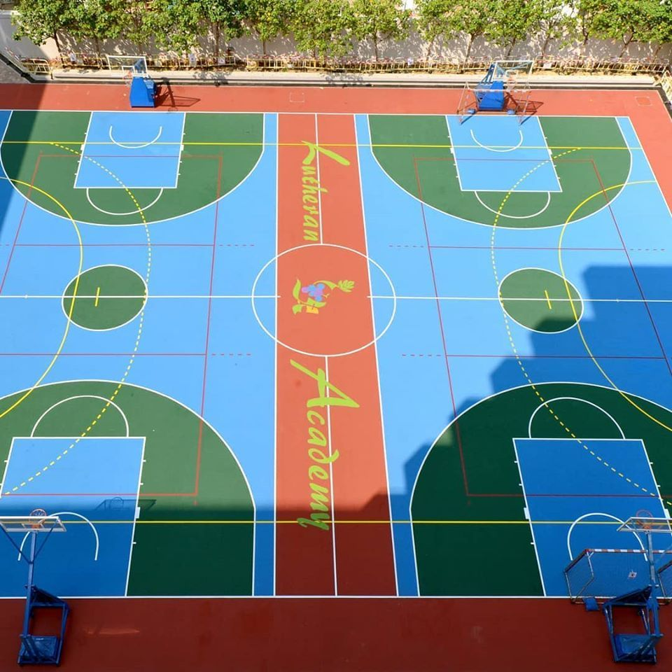 Decoflex D15 Sports Flooring for the Lutheran Academy in