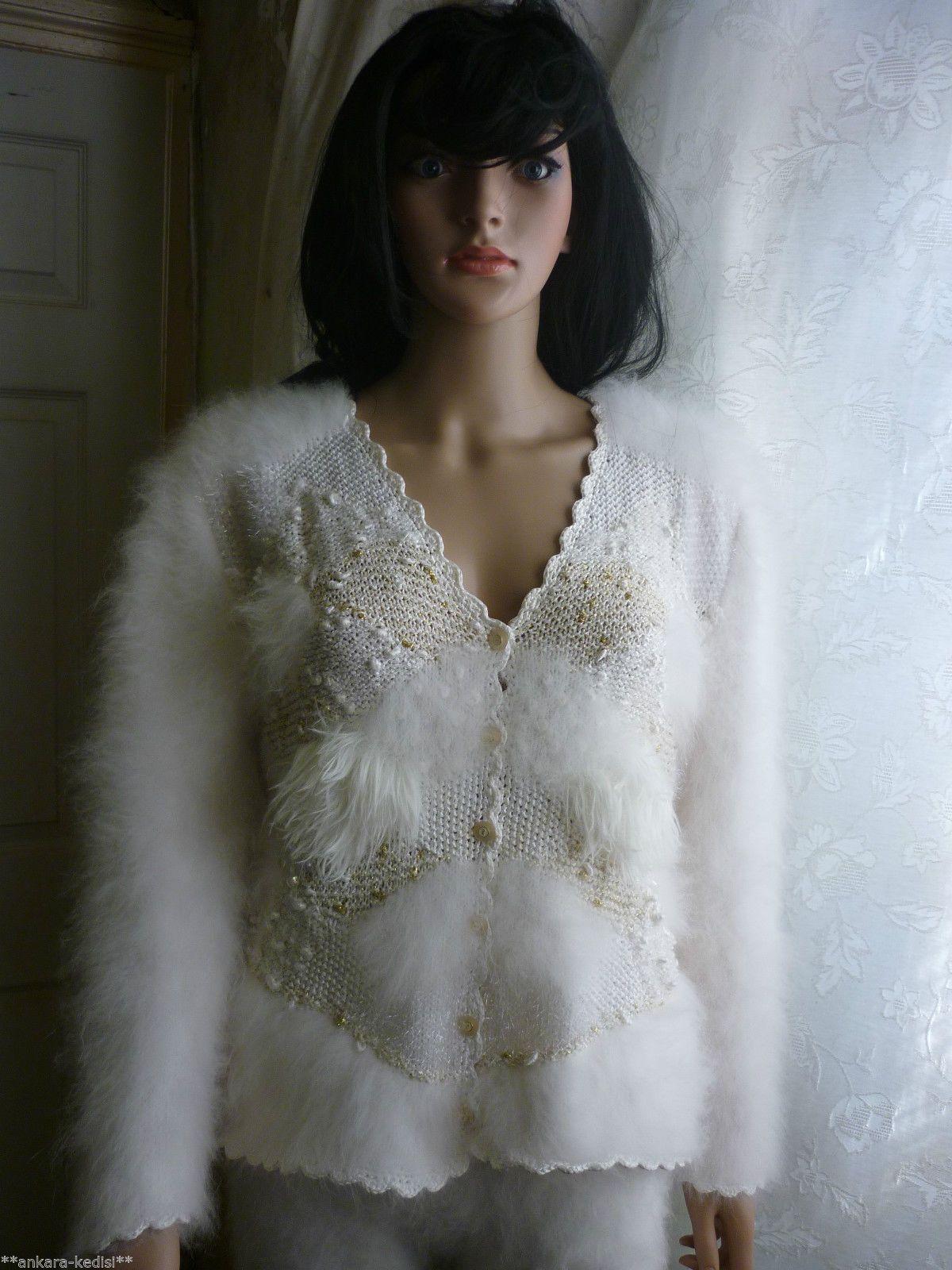 Fabulous Anny Blatt Hand Knitted 100 Pure Rabbit Angora
