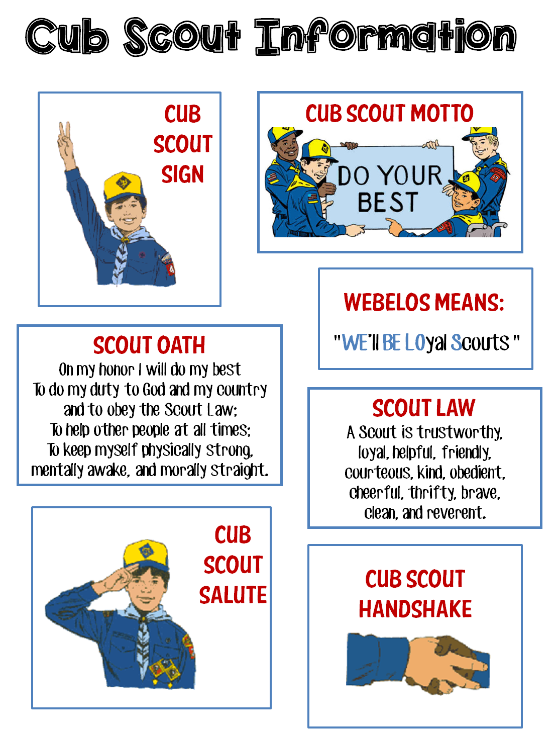 Create Cub Scout Gathering Activities Using Puzzle Maker – Webelos Activity Badge Worksheets