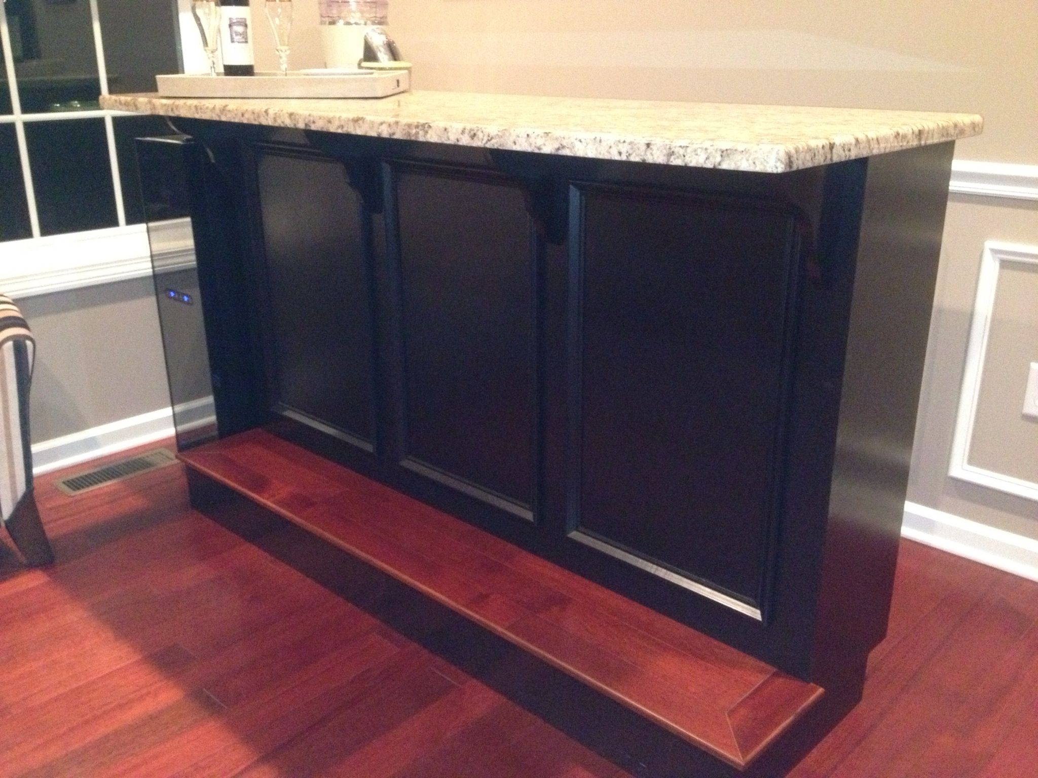 Custom Bar Designed Made By Bell Custom Cabinetry Southington Ct Bar Is Moveable Left Over Cherry Floori Basement Remodeling Custom Cabinetry Room Design