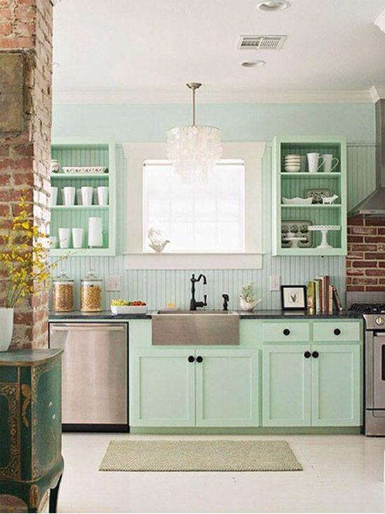 Pin de Rachel Star en Home   Pinterest   Cocinas, Menta y Interiores