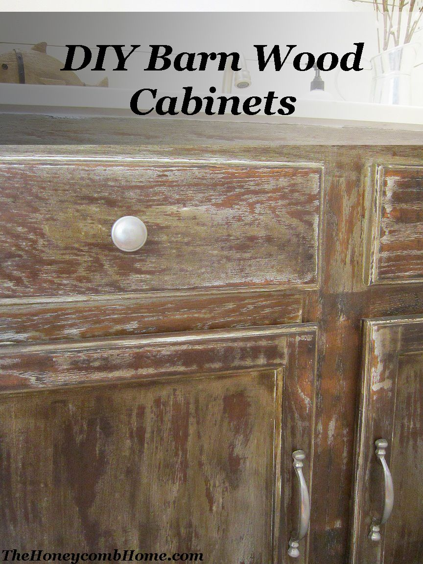 Diy Barn Wood Cabinets The Honeycomb Home Barn Wood Cabinets Barn Wood Wood Cabinets