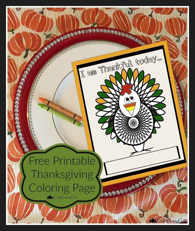 Free thanksgiving printable for kids, table decorating ideas