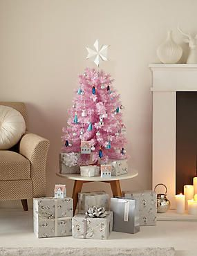 3ft Pink Flocked Christmas Tree