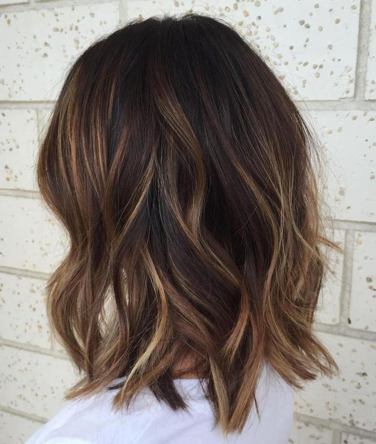 Mid-piece-y cut with highlights – Hair. – #Hair # highlights #with …