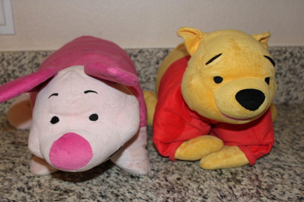 Disney Winnie The Pooh Piglet Lot Soft Pillow Pet Stuffed Animal 18x19 Huge Disney Animal Pillows Disney Pillow Pets Soft Pillows