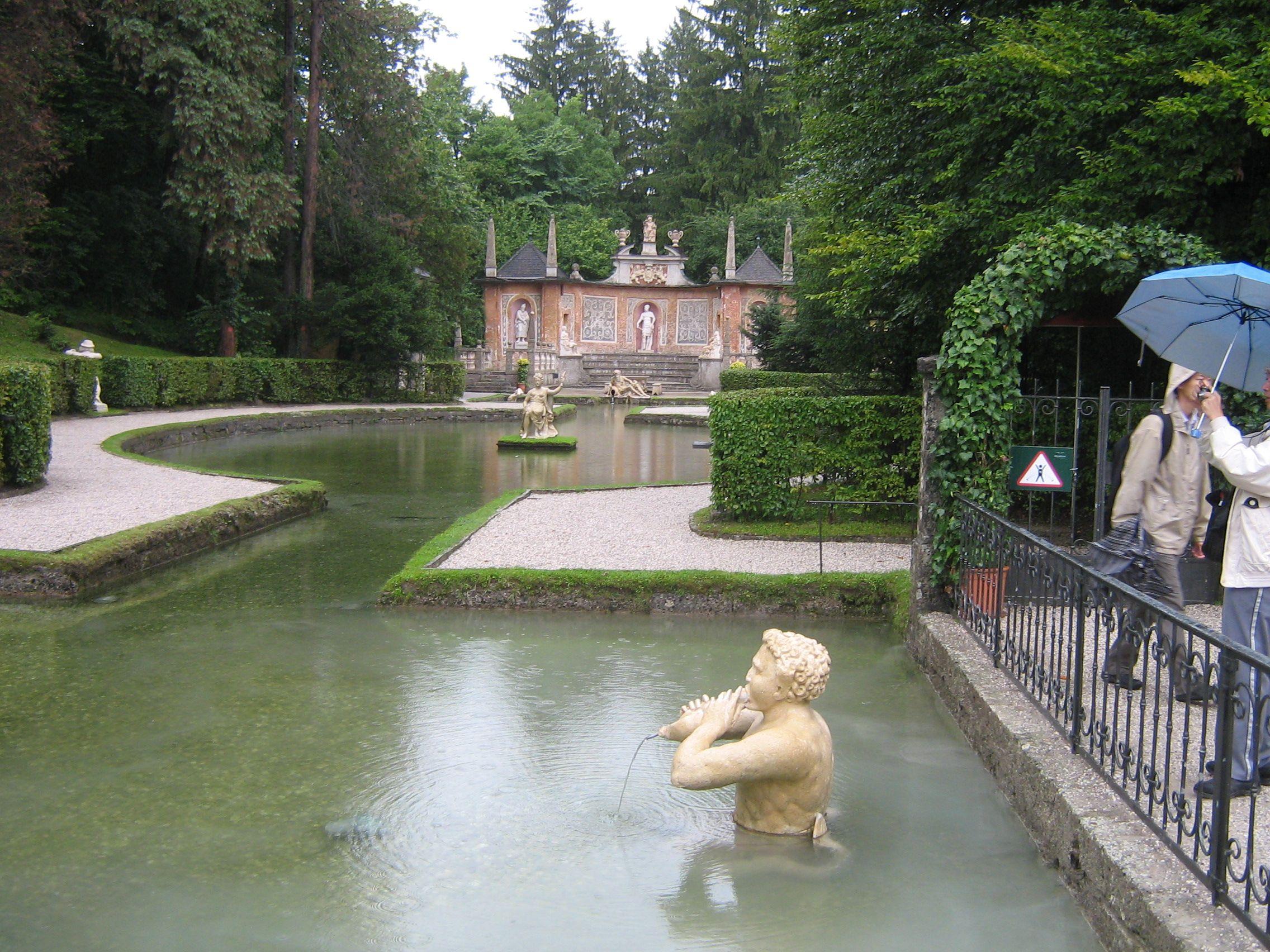 Ornamental pool-Hellbrunn Palace in Salzburg