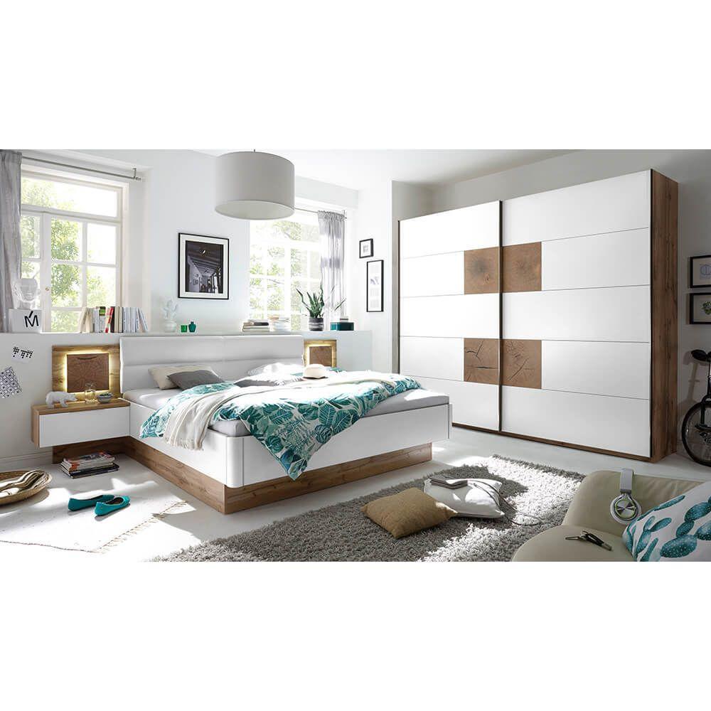 Schlafzimmer Set Capri mit Schrank inkl. Passepartout Bett 180x200 ...