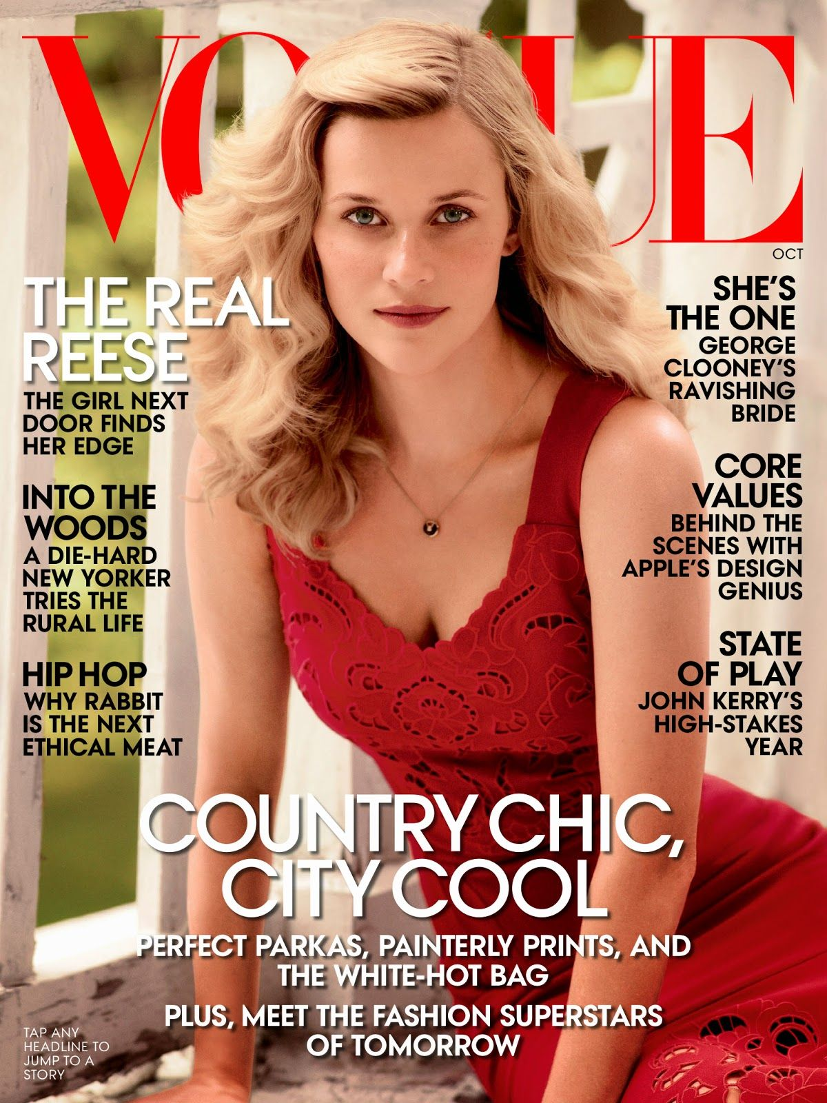 Reese Witherspoon by Mikael Jansson for Vogue UK October 2014
