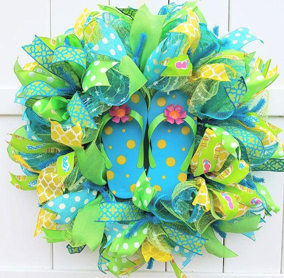 47491b8edf7db6 Flip Flop Wreath