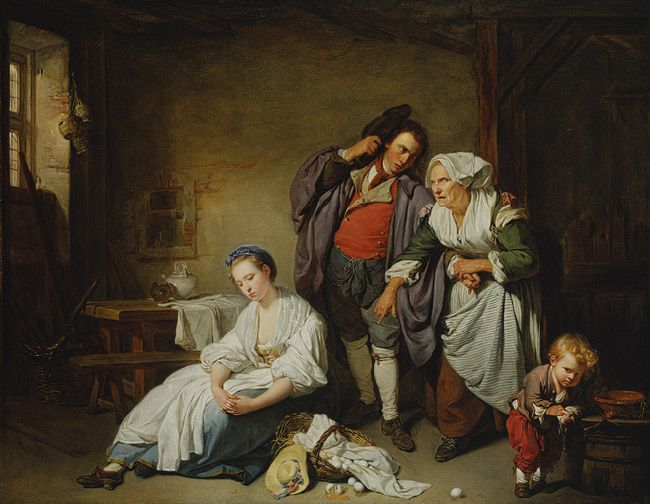 Jean Baptiste Greuze Broken Eggs The Metropolitan Museum Of Art Art History European Paintings Metropolitan Museum Of Art
