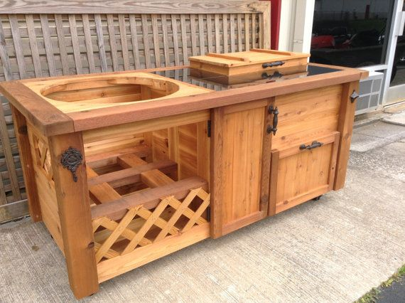 Put Lattice On The Cooler For Wine Storage Built In Gas Grills Grill Table Outdoor Kitchen