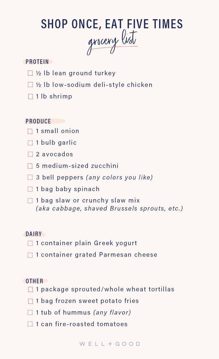 Einmal einkaufen, 5-mal mit diesem gesunden Ernährungsplan direkt von einem Ernährungsberater essen   – #iamwellandgood