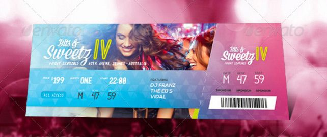 Event Ticket Template Graphic Design Pinterest Ticket Template