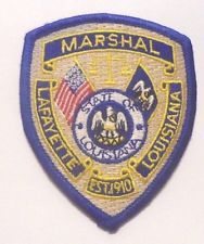 Lafayette Louisiana Marshal Patch Police Patches Patches Fire Badge