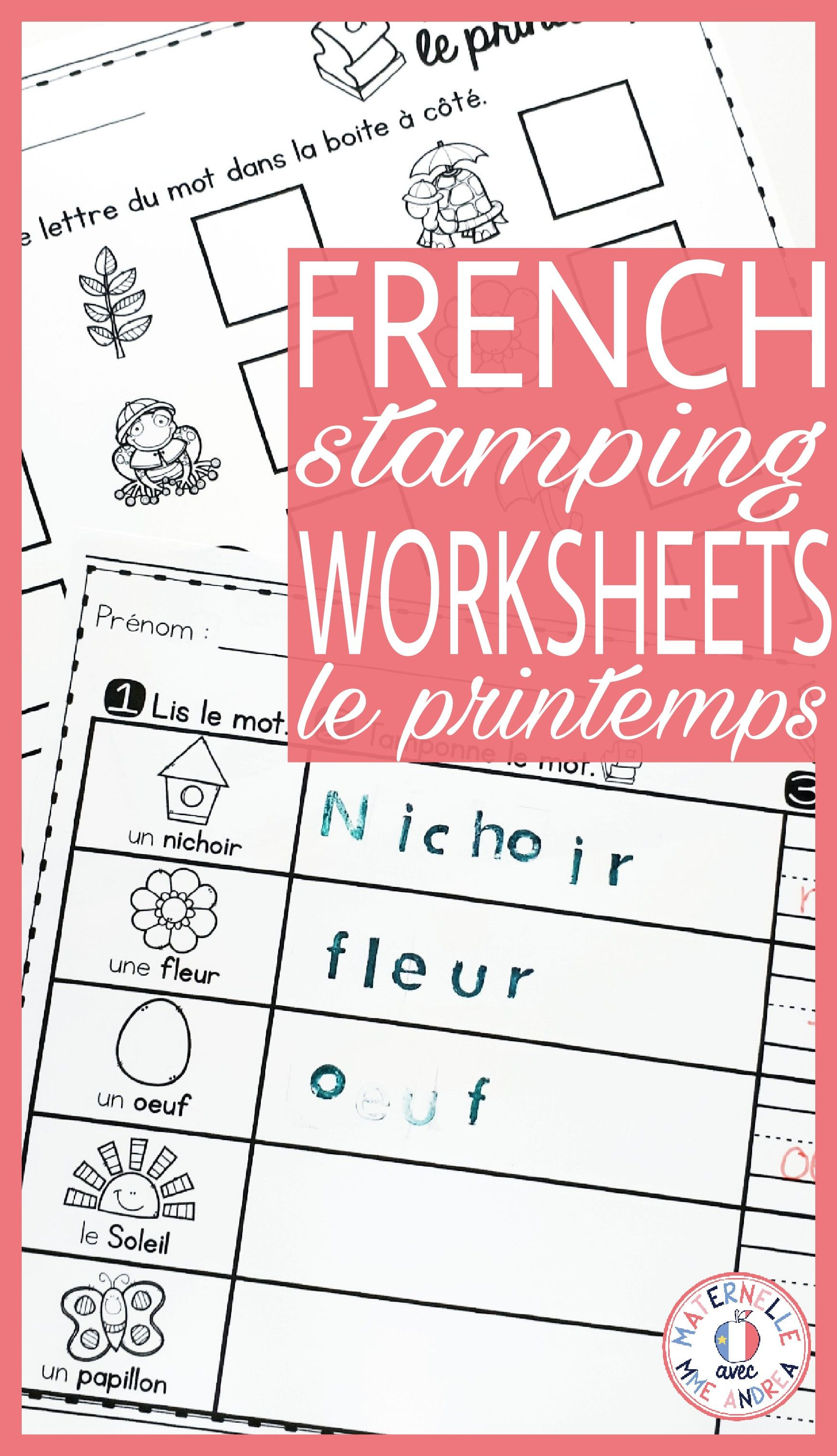 Tamponner Le Printemps French Spring Stamping Activities