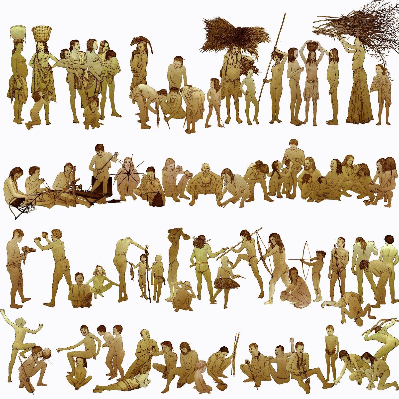 Banco De Imagenes Mujeres Prehistoria Recolectoras Caza